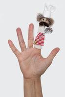 Fingerpuppe Koch
