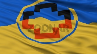 Calama City Flag, Chile, Closeup View