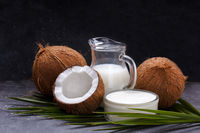 Coconut milk and butter