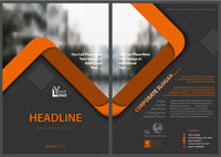 Gray Flyer Template with Orange Stripes