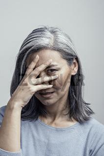 Asian Female Closed-Up Portreit