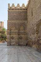 Outer wall of public historic Al Hakim Mosque - Enlightened Mosque - Moez Street, Cairo