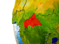 Central Africa on 3D Earth