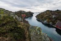 Rovaer in Haugesund, Norway - januray 11, 2018: The Rovaer archipelago in Haugesund, in the norwegian west coast.
