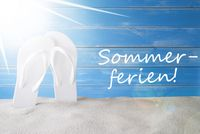 Sunny Background, Sommerferien Means Summer Holidays