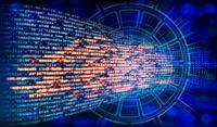 Programmcode und Technologie Hintergrund