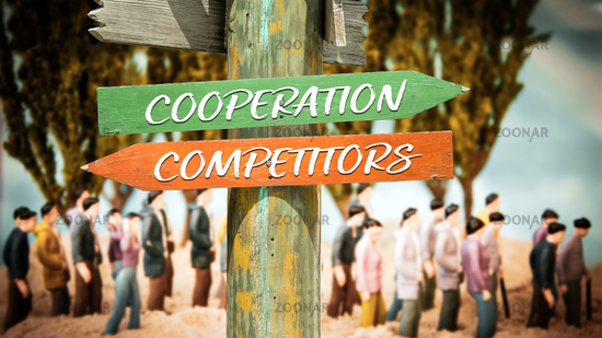 Street Sign Cooperation versus Competitors