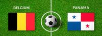 Football match Belgium vs. Panama
