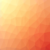 Orange Polygonal Background. Rumpled Triangular Pattern. Low Poly Texture. Origami Style