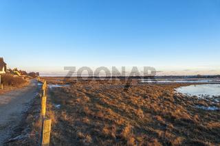 Winterliche Landschaft im Naturschutzgebiet Graswarder in Heiligenhafen