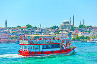 Tourist boat in Istanbul