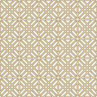 Seamless geometric pattern in golden and white.Japanese style Kumiko.Double lines.