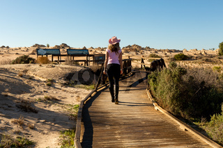 Tourist visitor to the desert and Mungo National Park