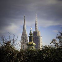 Zagreb cathedral and church