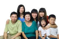 Asian large family portrait