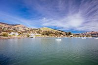 Akaroa Waterfront in New Zealand in Spring