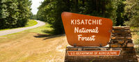 Sign Marking the Boundary of Kisatchie National Forest Protected Land in Louisiana