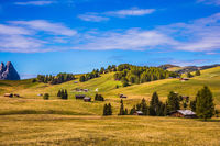 The famous winter ski resort in autumn