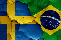 flags of Sweden and Brazil