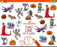 one of a kind game with Halloween characters