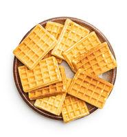 Tasty sweet waffles.