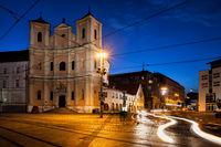 Trinity Church in Bratislava by Night