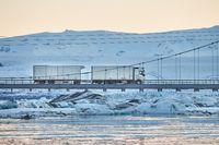 Cargo truck in Iceland