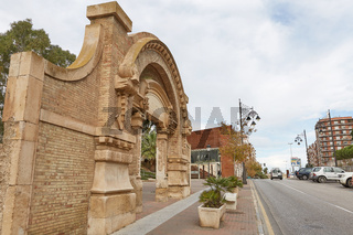 Ancient remains in downtown area of Cartagena, located in area of Murcia in Spain