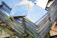 batch of forgotten blue tiles