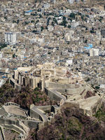 Exterior view from Al-Cahira fortress aka Cairo Castle at Taiz, Yemen