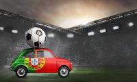 Portugal car on football stadium