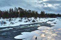 Winter River Flow