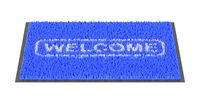 Welcome doormat on white