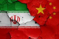 flags of Iran and China