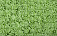 Close up background of green textile puffs