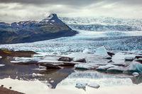 The glacier Vatnajokull, Iceland
