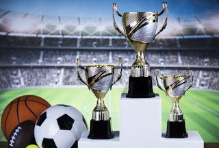 Sport podium, Cups of winners award