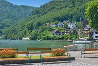 Seepromenade in Traunkirchen am Traunsee,Bundesland Oberoesterreich,Oesterreich