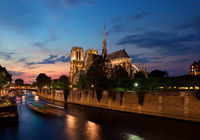 Notre Dame in evening