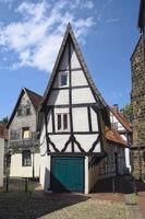 Minden - Kleines Fachwerkhaus neben der Martinikirche, Deutschland