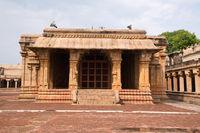 Subrahmanyam shrine, Brihadisvara Temple complex, Tanjore, Tamil Nadu. View from East.