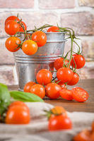 Small red cherry tomatoes