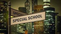 Street Sign SPECIAL SCHOOL