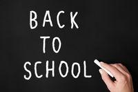 back to school chalk writing on board