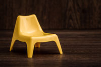 Decorative Yellow Miniature Modern Plastic Chair