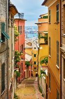 Old narrow street in Genoa
