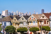 Victorian style homes in San Francisco