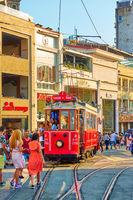 Istiklal pedestrian street in Istanbul