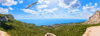 Foros town in Crimea, beautiful summer panorama