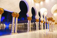 Sheikh Zayed Mosque at night. United Arab Emirates